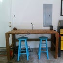 Basic Workbench: made out of reclaimed wood