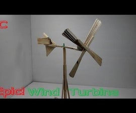 How To Make A Wind Turbine Out Of Popsicle Sticks