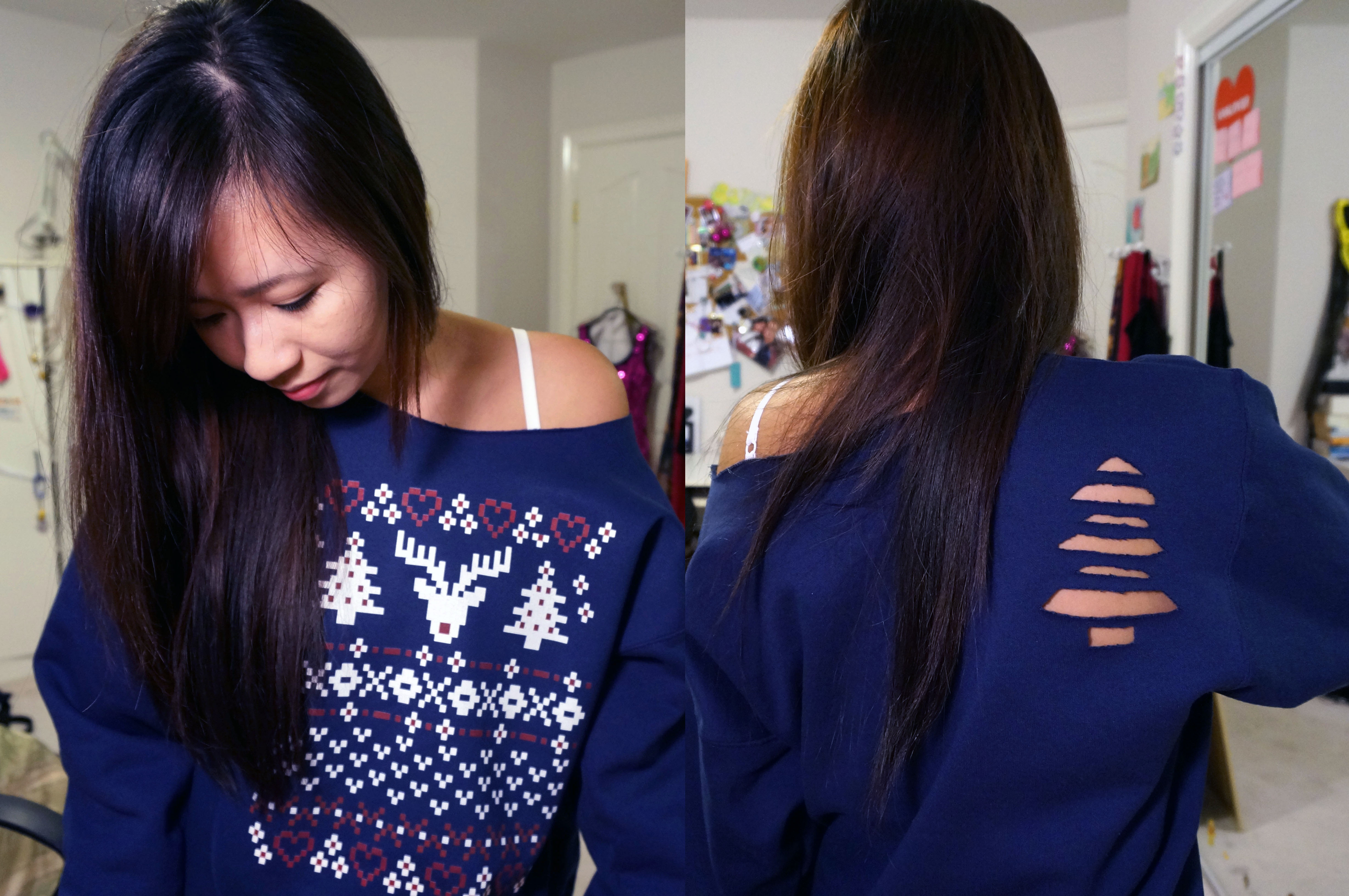 Picture of Christmas Tree Sweatshirt Cut Out