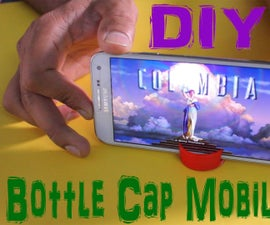 DIY Mobile stand with Bottle Cap (Life Hack)