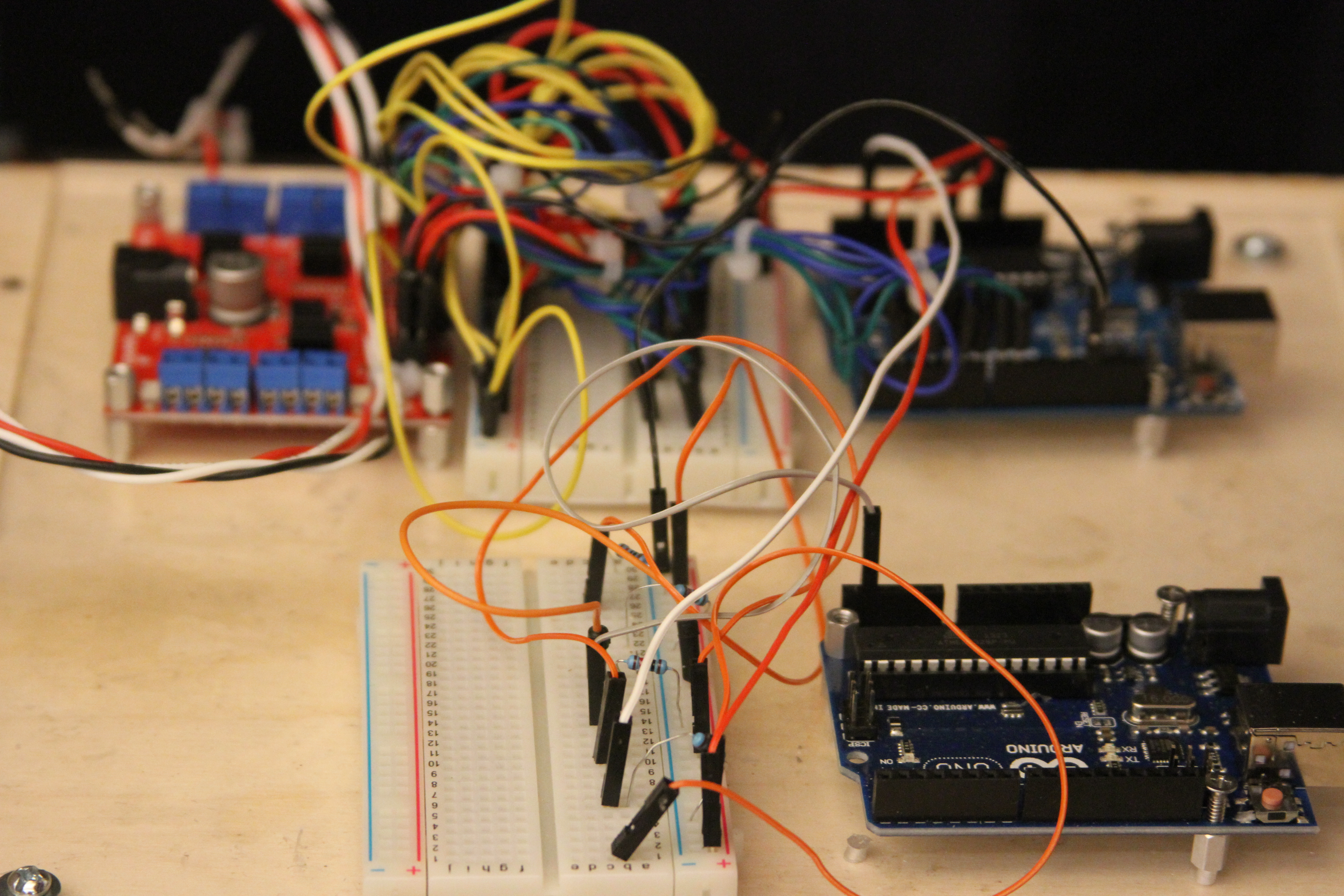 Picture of Arduino and Stepper Shield