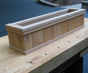 Building Cedar Trimmed Window Boxes for Your Home