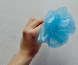 Tissue Paper Flower Pen - Cheap and Easy