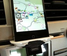 Homemade iPhone car mount