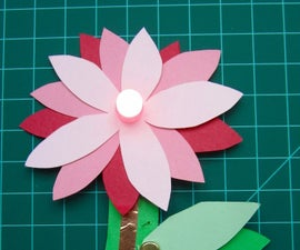 Paper Flower with LED and Conductive Tape