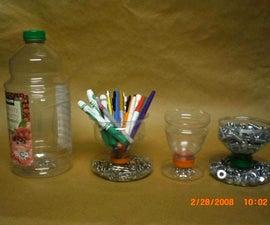 Plastic Bottle pen/pencil/paperclip/nut/bolts  etc. holder