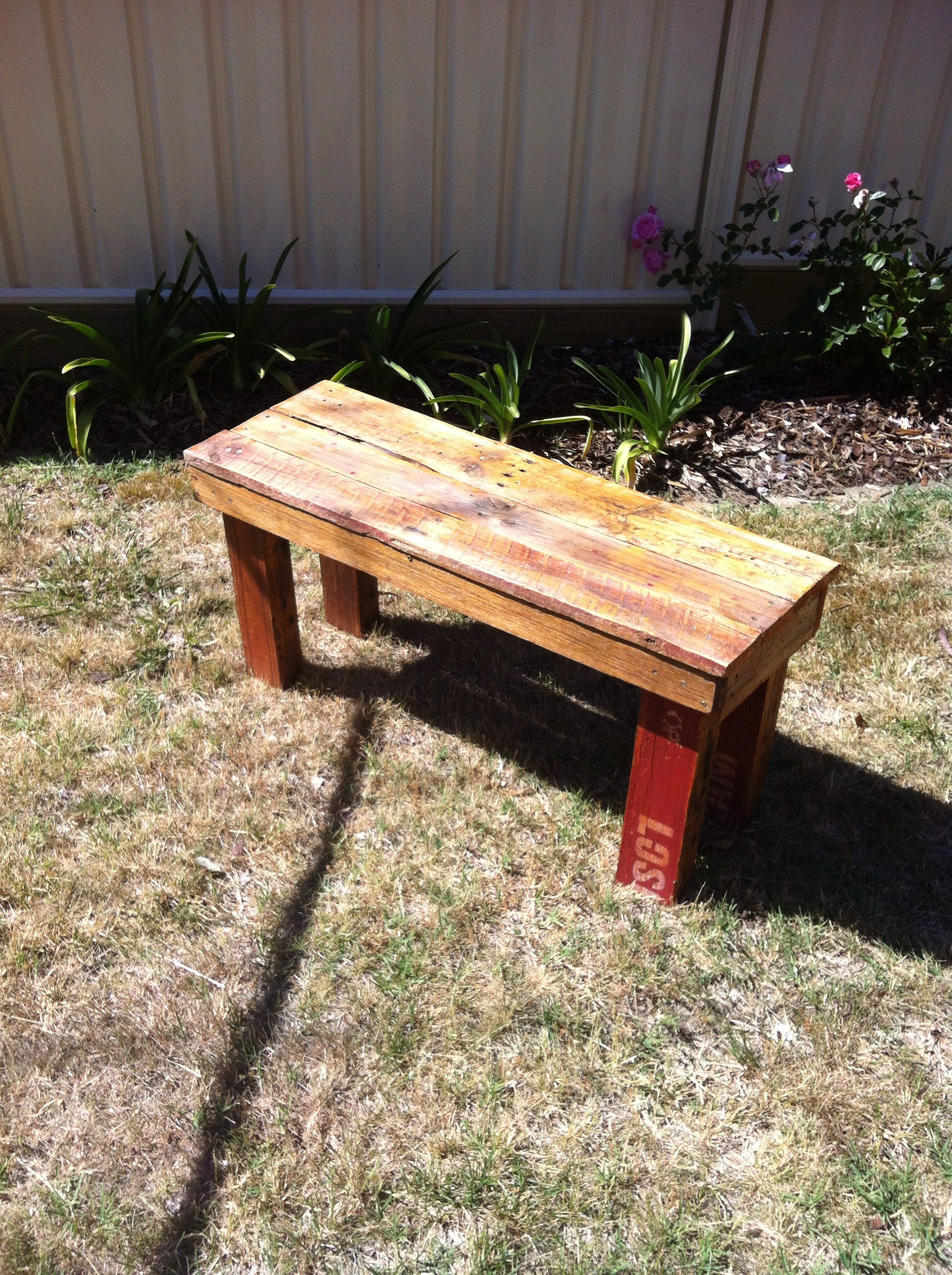 Rustic Timber Bench Seat Outdoor