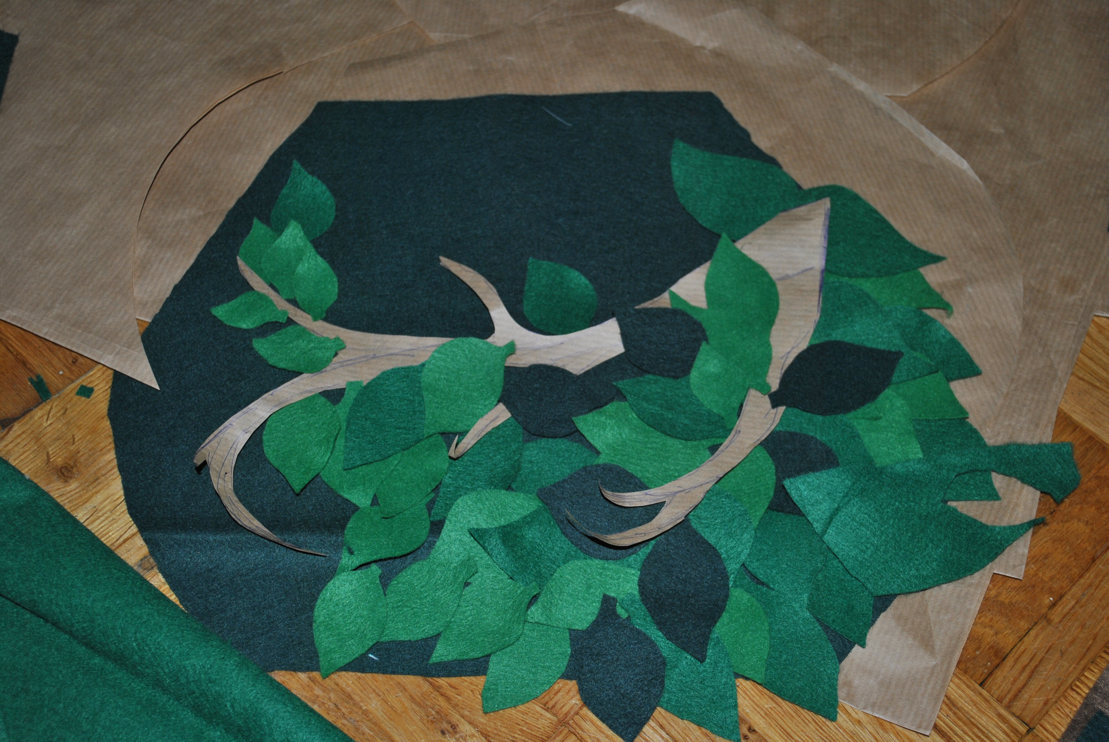 Picture of Felt Leaves