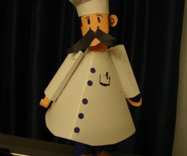The Muffin Man or Chef Paper Craft (EASY)