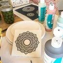 Screen Printed Ceramic Bisque Tiles