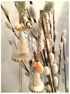 Miniature Tree Necklace- Winter Wonderland