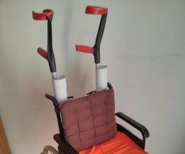 Wheelchair Crutch Holder