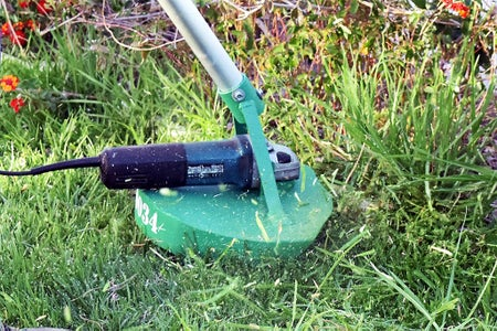 It's Possible to Use the Angle Grinder As a Strimmer
