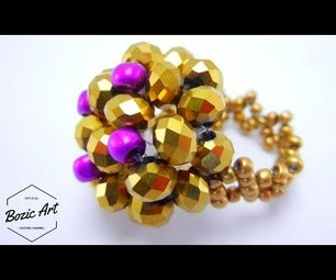 Gold Ring Made of Czech Crystals | How To