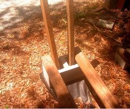 Firewood rack using no tools