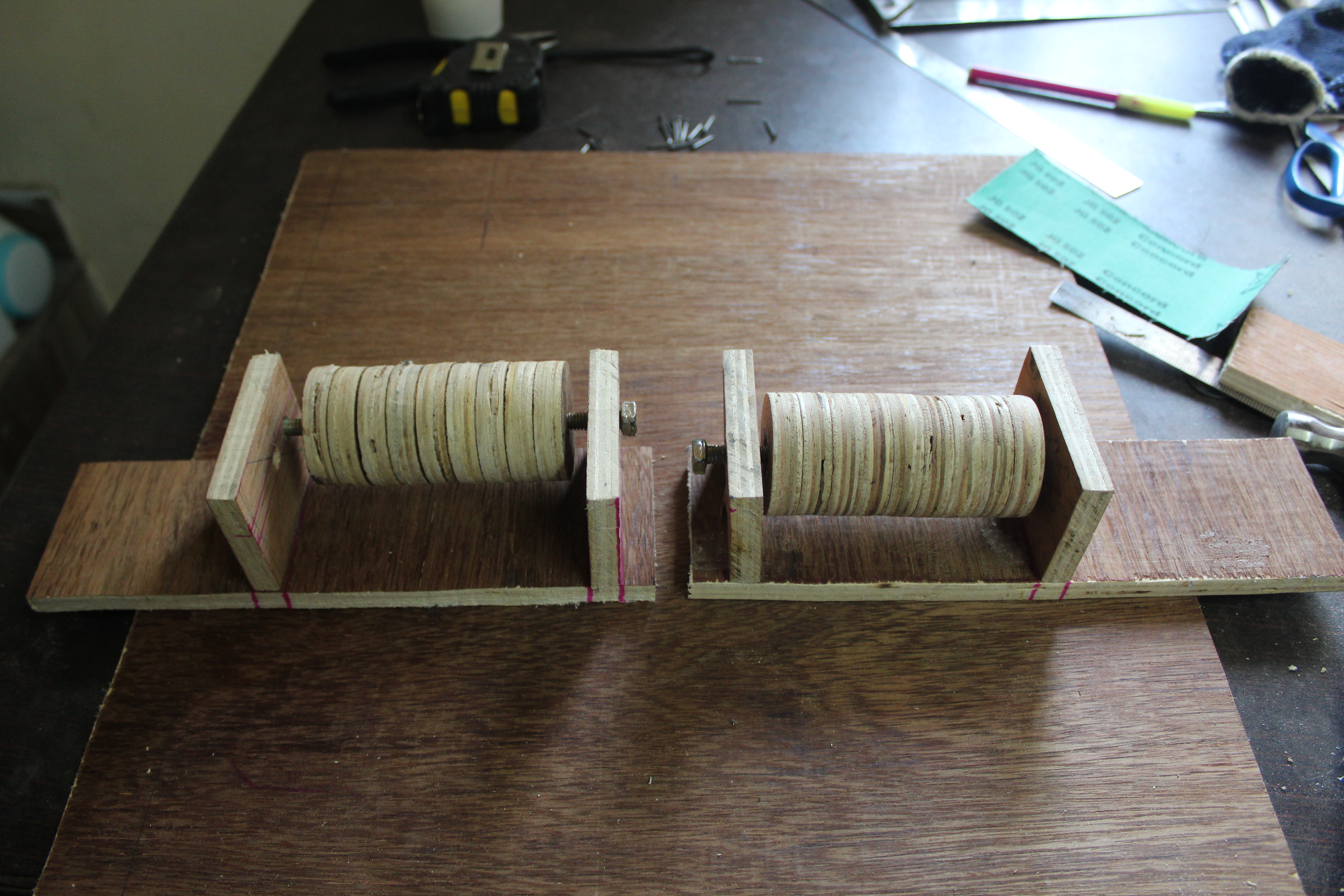 Picture of Making the Holders of the Rollers