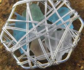 Sea Glass Basket Earrings