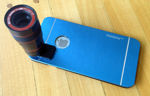 Picture of Glue the Objective Adapter to the Phone Case