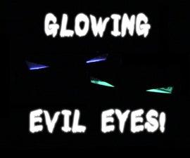 Halloween Glowing Evil Eyes!