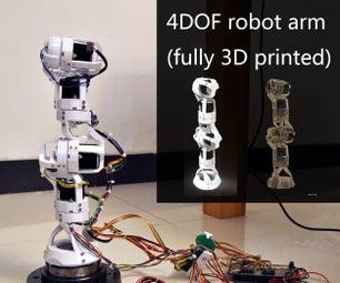 4 DOF Robot Arm (Fully 3D Printed)