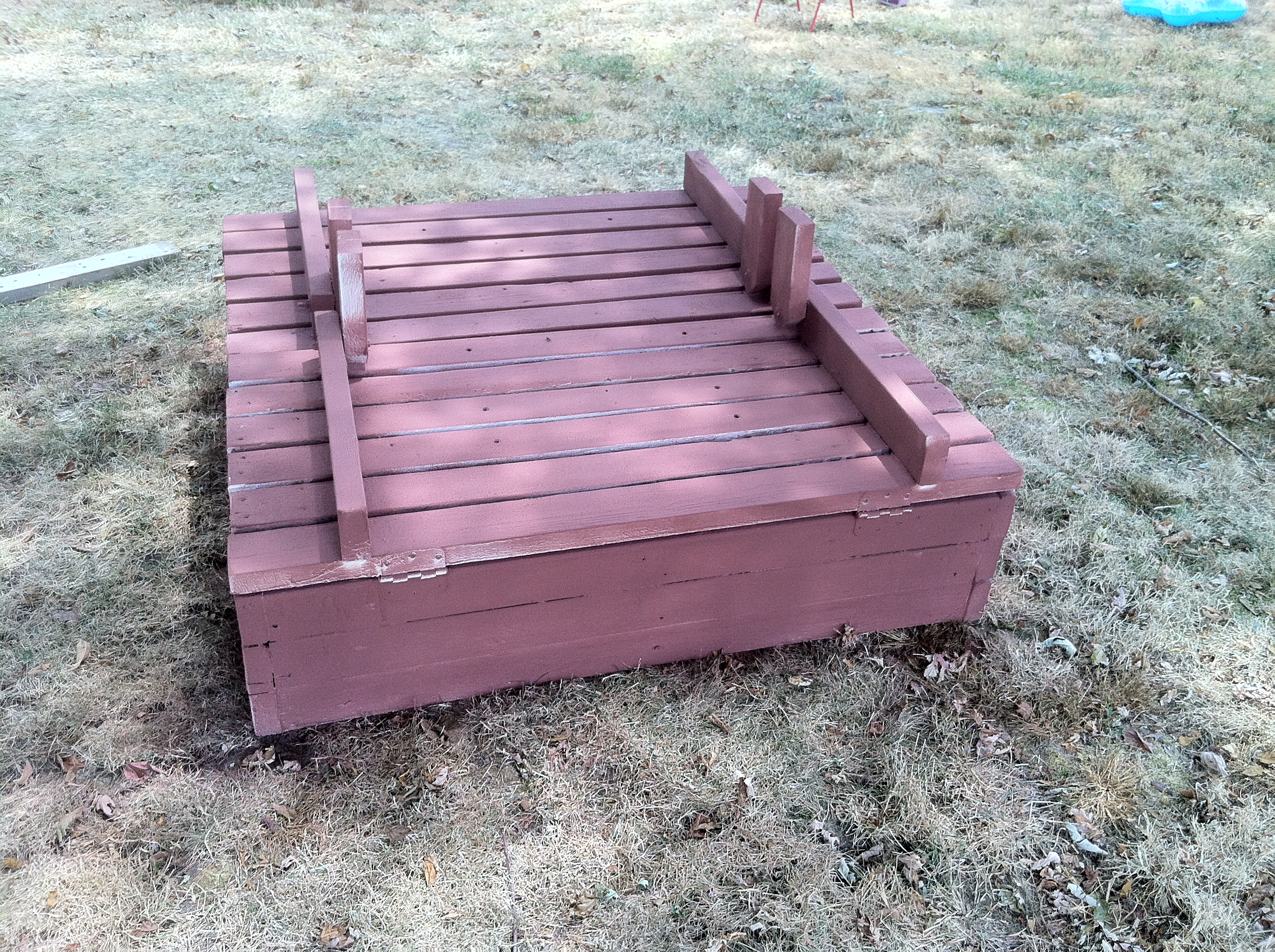 Picture of Building a Large Sandbox With Bench Seat Lids