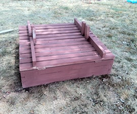 Building a large sandbox with bench seat lids
