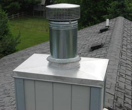 Installing a Stainless Steel Chimney Chase Cover