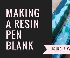 Making a resin pan blank