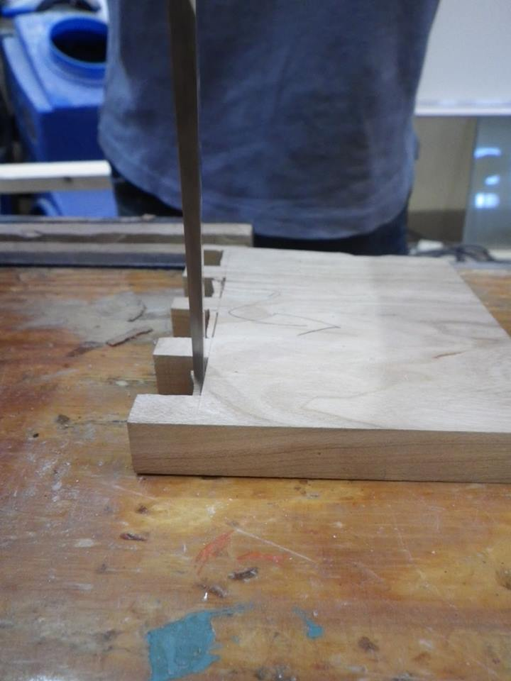 Picture of Dovetail the Steps Into the Side Pieces