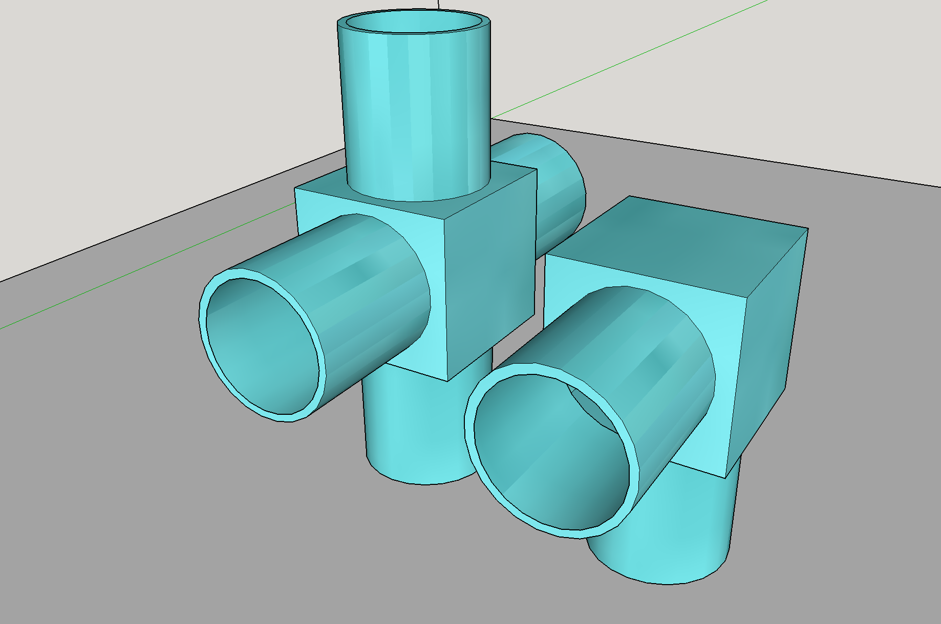 Picture of SketchUp: Straw Connector Instructable