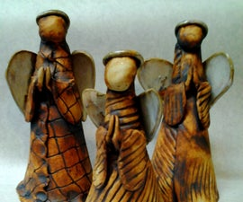 Rustic Clay Angels