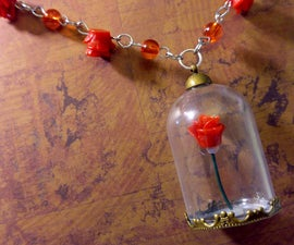 DIY Enchanted Rose Necklace | Beauty and the Beast Inspired Craft
