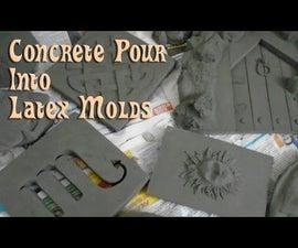 Concrete Pour Into Latex Molds