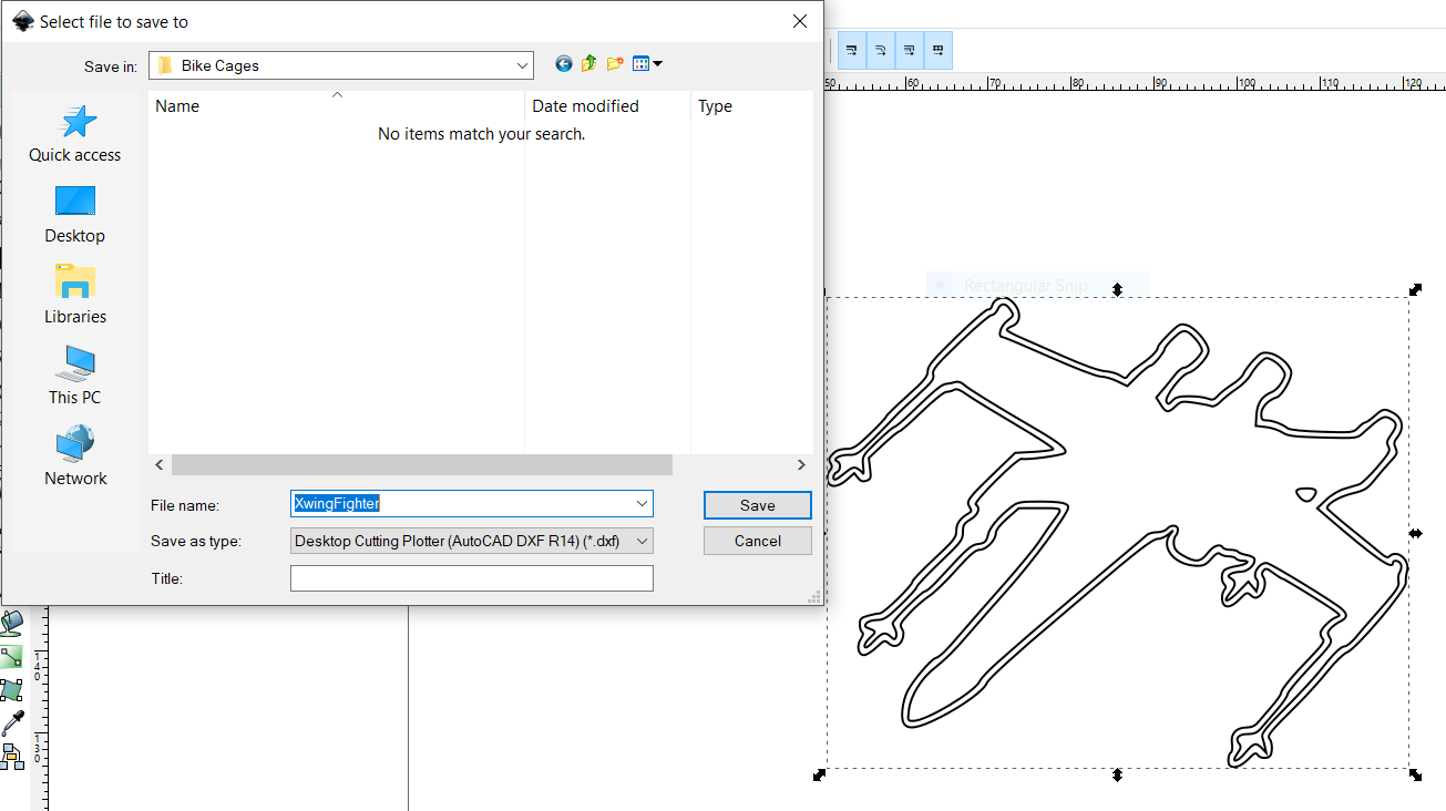 Picture of Prepare a .dxf File to Cut Into the Main Flange