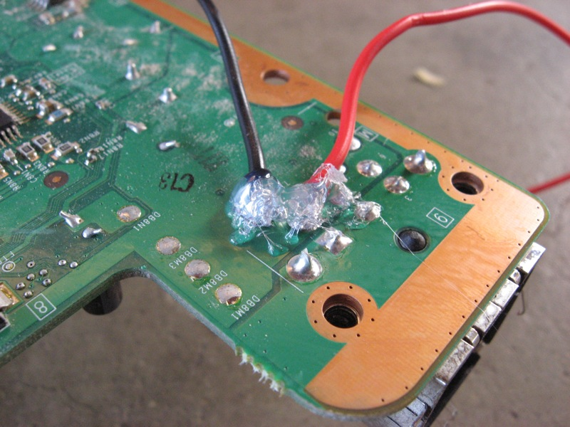 Picture of Soldering to the Motherboard