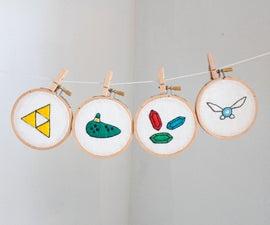 Legend of Zelda embroideries + pattern