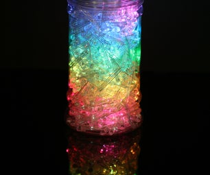 Rainbow Jar - RGB Pixel Strip Controlled Via Arduino