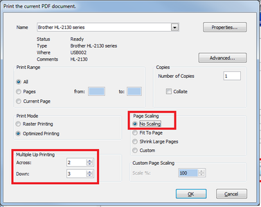 Printer Settings for Toner Transfer