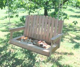 Make a Swing Bench Bird Feeder