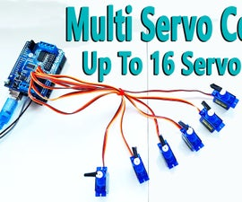 Arduino - Multi Servo Control Up to 16 With Arduino