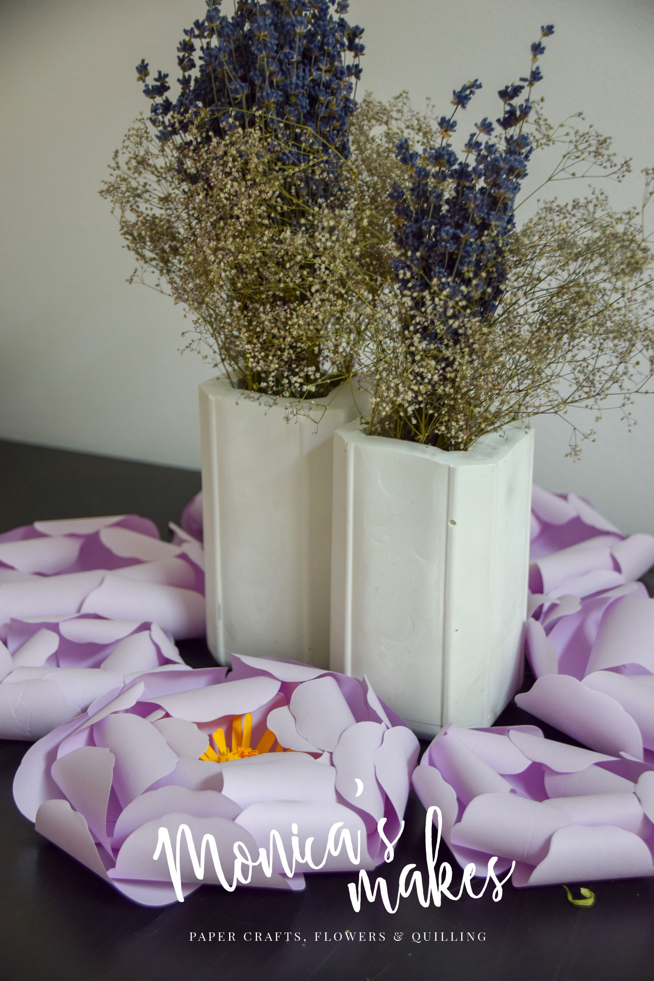 Picture of DIY Rectangular Flower Vases Made From Cement