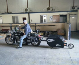 Motorcycle Single Tire Trailer
