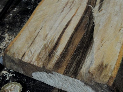 How Raw Logs Were Converted Into Spalted Beech Timber (lumber)