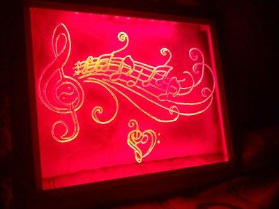 Led Plexiglass Music Frame