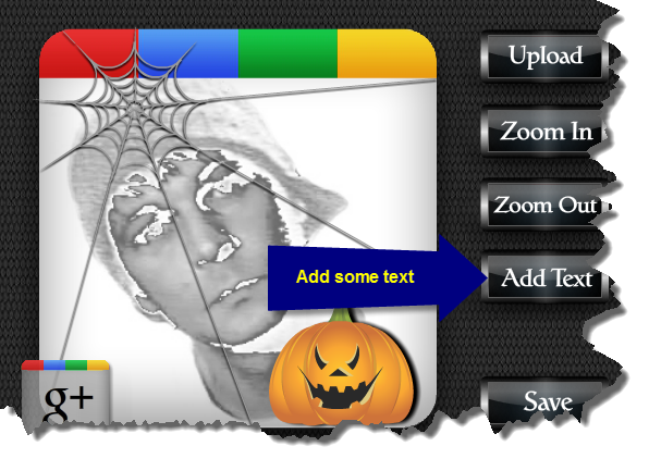 Picture of Add Some Text. Google+ Profile Image Avatar Maker - Halloween Style