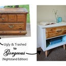 Contemporary Nightstand Makeover