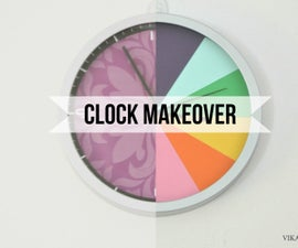 Clock Makeover - From meh :( to colorful clock :)