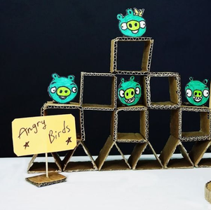 Cardboard Angry Birds