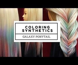 How to Color Synthetic Hair Extensions