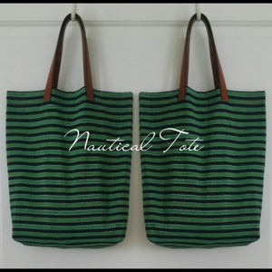DIY Nautical Tote With Repurposed Leather Straps
